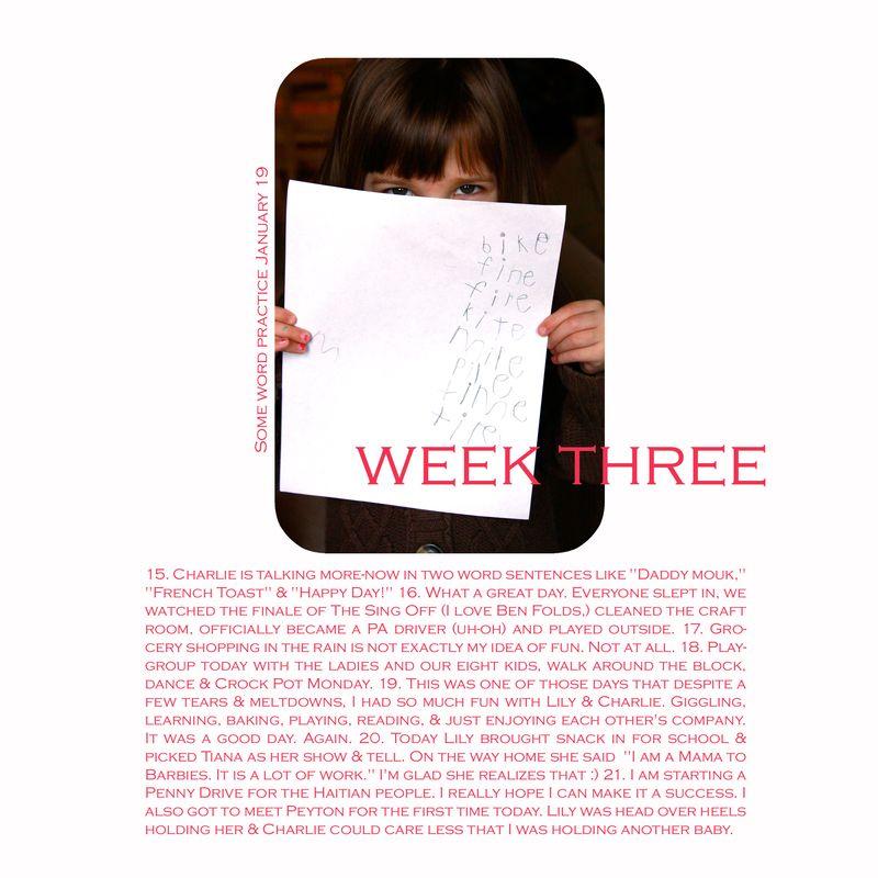 Weekthree